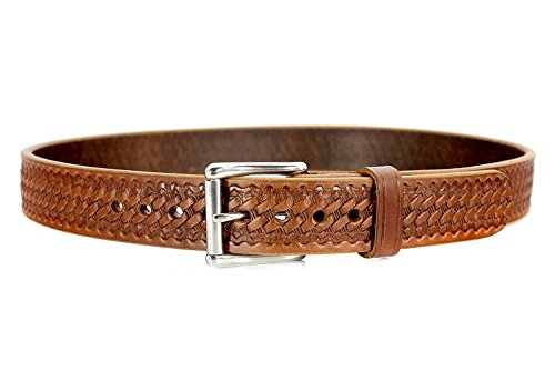 BULLBELT Gun Belt - Original Ultimate Thickness Gun Belt - Made in the USA (34, Basket Weave - Caramel Tan)