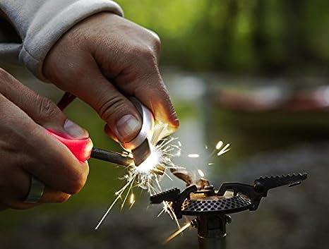 Light my Fire Swedish FireSteel 2.0 Scout 3,000 Strike Fire Starter with Emergency Whistle