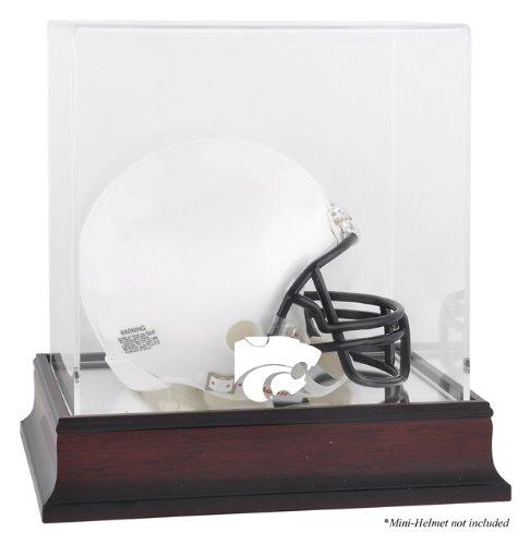 Kansas State Wildcats Team Logo Mini Helmet Display Case   Details: Mahogany Base, Mirror Back