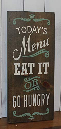 WoodSign MarthaFox Today's Menu Sign/Eat It or Go