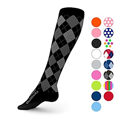 Go2Socks GO2 Compression Socks for Men Women Nurses Runners 20-30 mmHg (high) - Medical Stocking Maternity Travel - Best Performance Recovery Circulation Stamina