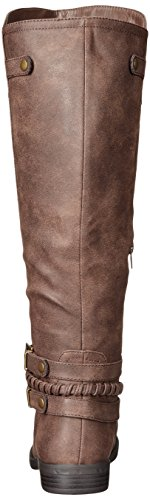 Indap Stiefel Frauen Rampage Ram Dark Pumps Rund Brown Fashion 6OqHOx