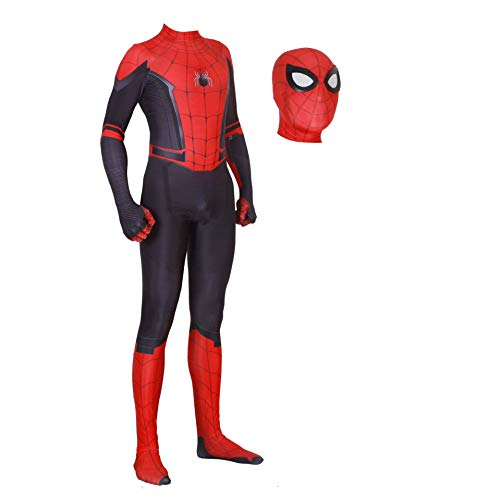 Spider Man Suit (Spiderman Far from Home Costume Kids Adult Spider-Man Homecoming Cosplay Costumes (XL,)