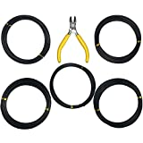 Lemimo Set of 5 Sizes Aluminum Bonsai Tree Training Wires Rolls with Bonsai Wire Cutter 1.0mm 1.5mm 2.0mm 2.5mm 3.0mm Anti-Corrosion and Rust Resistant
