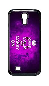 Cool Painting keep calm and carry on Snap-on Hard Back Case Cover Shell for Samsung GALAXY S4 I9500 I9502 I9508 I959 -812