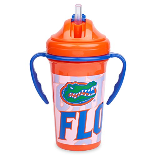 Straw Top Sippy Cup | Official NCAA University of Florida Licensed Product | 10 oz
