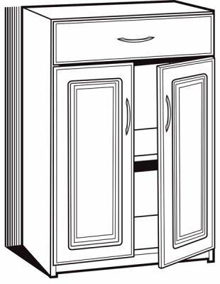 Closetmaid 12319-36 1 Drawer/2 Door Cabinet Shelving, Laminated by ClosetMaid