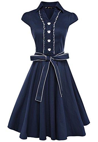 Anni Womens Vintage Dresses Colored