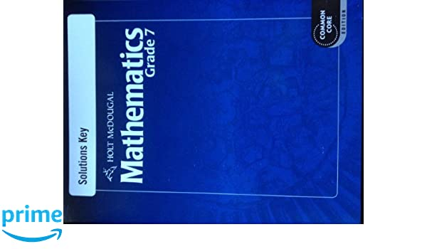 Amazon.com: Holt McDougal Mathematics: Solutions Key Grade 7 ...