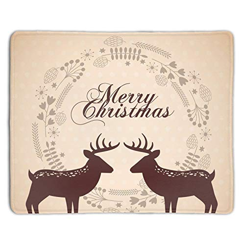 Mouse Mat,Personalized Non-Slip Mousepad for Office Work Travel Home Merry Christmas Animal - Padres Clubhouse