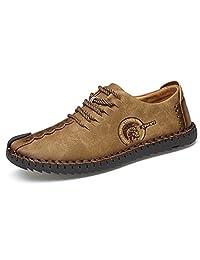 NEW Comfortable Casual Shoes Loafers Men Shoes Quality Split Leather Shoes Men Flats Hot Sale