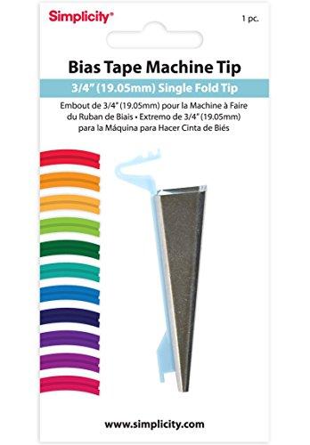Simplicity 3/4-Inch Single Fold Bias Tape Machine Tip (Renewed)