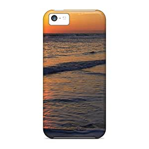 Hot Snap-on Sunrise Waves Hard Covers Cases/ Protective Cases For Iphone 5c