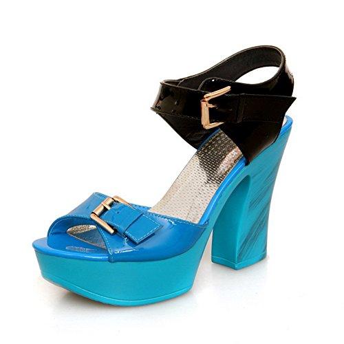 Adee - Sandalias de vestir para mujer Azul