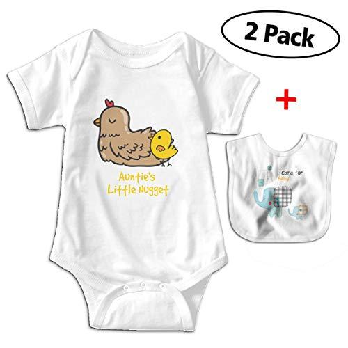 Sander Renata Auntie's Little Nugget Baby Boy Girl Cotton Short-Sleeve Bodysuit