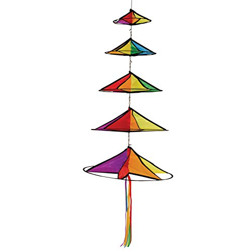 Spinning Windsock (In the Breeze Jumbo Rainbow Magic Star - Hanging Decoration Spinner)