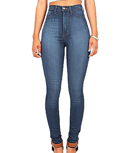 Taille Clair Jeans Hibasing Bleu Extensible Haute Femme Skinny Fn8wTqR50