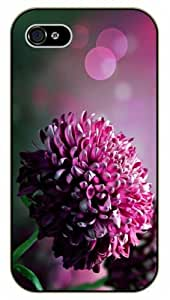 Purple close up flower - iPhone 4 / 4s black plastic case / Flowers and Nature, floral, flower