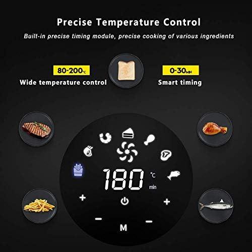 HLJ 3.6L Friteuse Air, ménage automatique Non sans huile Fumée Four, multi-fonction 1400W électrique panaméricaine de la santé