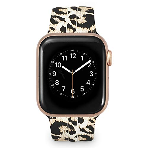 (Allbingo Cute Bands Women Men Floral Replacement Strap Wristband for 38mm/40mm/42mm/44mm Iwatch Series 4 Series 3 Series 2 Series)