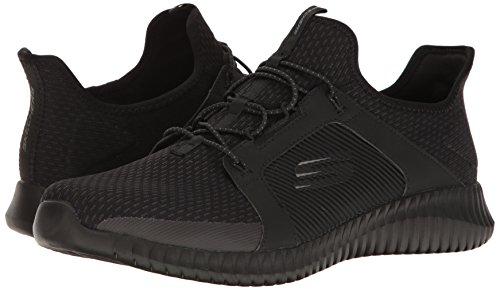 Elite Hombre Para Sin Flex Skechers black Negro Zapatillas Cordones UqxZnw7