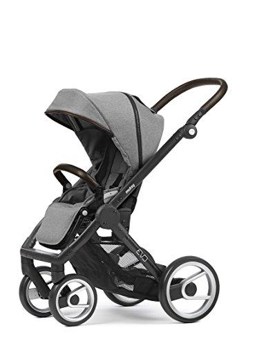 Mutsy Evo Farmer Edition Stroller, Black Chassis/Farmer Mist
