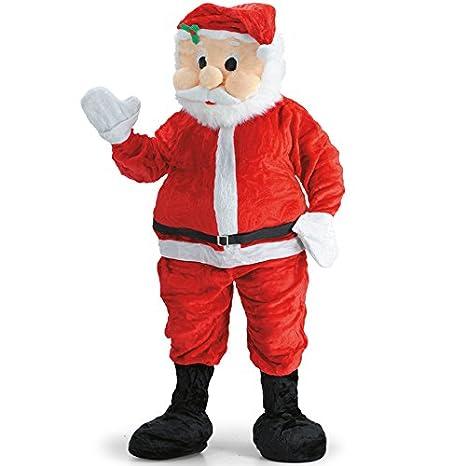 mascotte  Costume Mascotte Babbo Natale testona staccabile: : Giochi ...