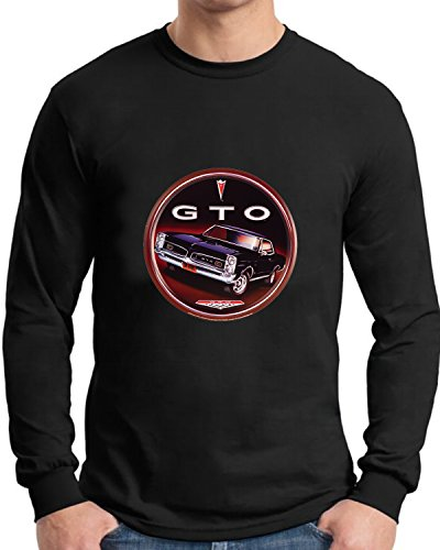 1966 Pontiac GTO Long Sleeve T Shirt Old Tin Sign Destressed Art