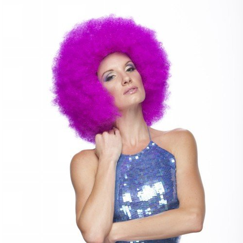 JUMBO PURPLE AFRO CLOWN SYNTHETIC HAIR WIG by West - West Land Mall