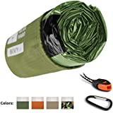 Bearhard Emergency Sleeping Bag Emergency Bivy Sack Ultralight Waterproof Thermal Survival Bivvy Cover with Heat Retention for Camping, Hiking & Emergency Shelter