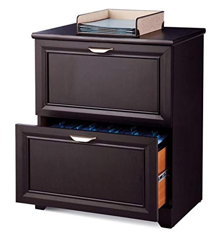 Realspace(R) Magellan Collection 2-Drawer Lateral File Cabinet, 30In.H X 23 1/2In.W X 16 1/2In.D, Espresso