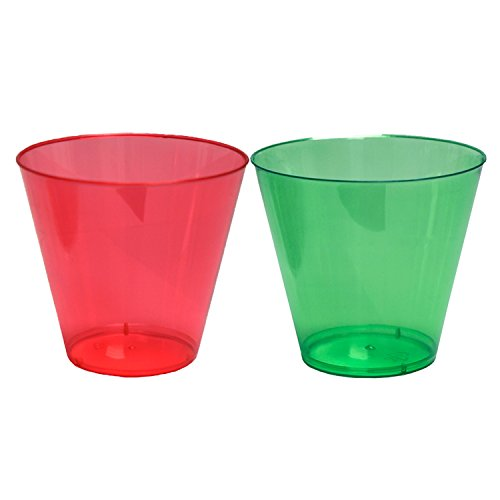 Party Essentials 40 Count Christmas Cups/Tumblers, 9 oz, Red/Green