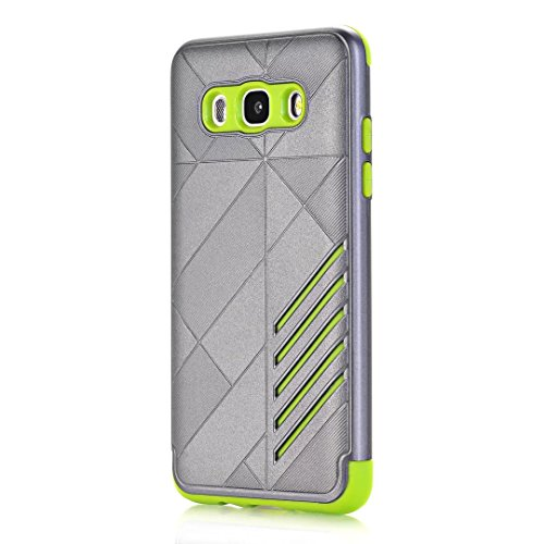 TPU/PC Shockproof Cover Case for Samsung Galaxy J510 J5 2016 (Grey) - 3