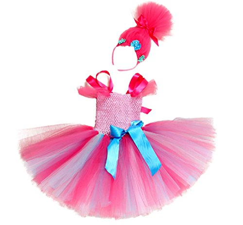 Pink Poppi Tutu Dress Costume w/Headband from Chunks of Charm (24 Months) -