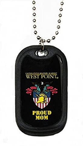 Dog Tag Key Chain Necklace US Military West Point Mom (West Point Mom)
