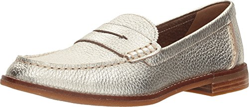 Sperry Top-Sider Seaport Penny Loafer Women 6.5 Platinum