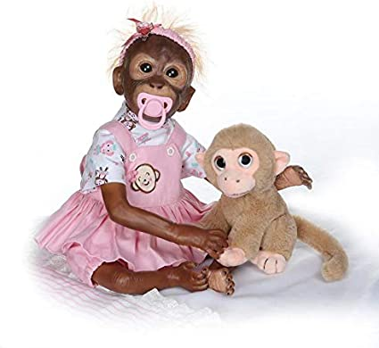 Handcrafted Realistic Lifelike Baby Monkey Doll Toy 21in Kids Baby Gifts