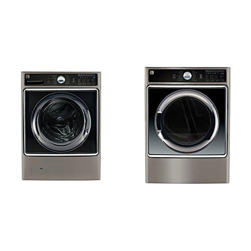 Kenmore Elite Front-Load Laundry 5.2 Electric Dryer Bundl...