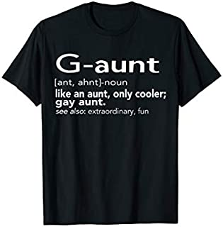 Cool Gift G-aunt Like An Aunt, Only Cooler; Gay Aunt  Women Long Sleeve Funny Shirt / Navy / S - 5XL