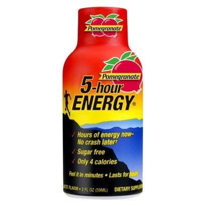 5 Hour Energy Pomegranate Shot, 2 Fluid Ounce - 12 per pack -- 4 packs per case. (5 Hour Energy Lemon)