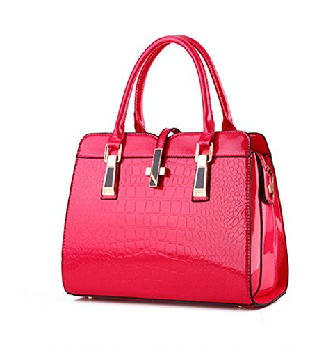 New QCKJ-Lorenz-Borsa a tracolla da donna in massello, colore: rosa