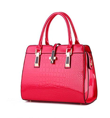 Soild Bolsa Cuerpo PU De qckj Fashion Hombro Mujeres bolso New Cruz Pink Ow68AI6x