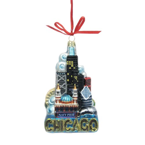 Kurt Adler Chicago Ornament 5 Inch product image