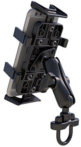 RAM Handlebar Rail Mount with Zinc Coated U-Bolt Base and Universal Finger-Grip(TM) Holder by RAM MOUNTS