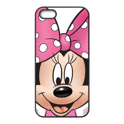 Mickey And Minnie 009 coque iPhone 4 4S Housse téléphone Noir de couverture de cas coque EOKXLKNBC26359