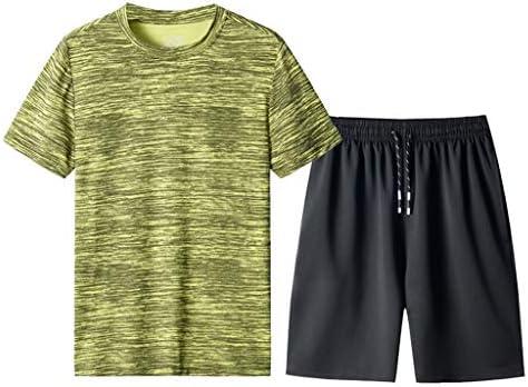 Jincheng665 大きいサイズ ランニングウェア メンズ 上下セット 半袖 パンツ ショーツ ハーフパンツ スポーツ シンプル ルームウェア tシャツ インナー シャツ 丸首 パジャマ