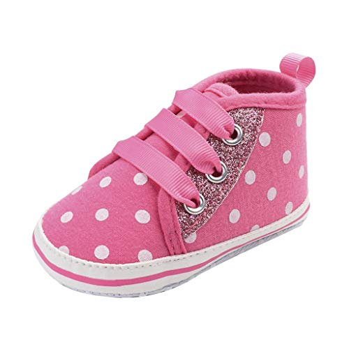 (SUNyongsh Spring Baby Shoes Fashion Casual Breathable Sneakers Straps Spotted Non-Slip Toddler Shoes Pink)
