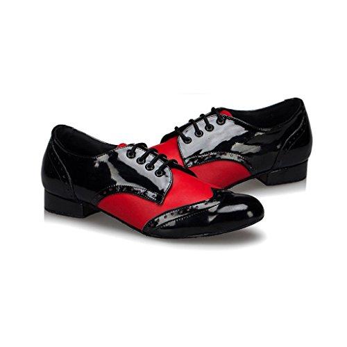 Shoes Tango Standard M108 Fashion Doris Dance Latin Salsa Leather Red Ballroom Men's CfOvqCw