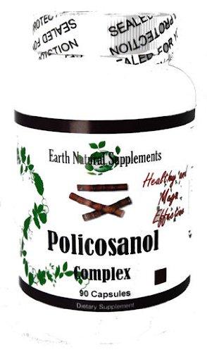 Policosanol * 12.5mg avec bêta sitostérol, racine de konjac fibre (glucomannane) 90 Capsules