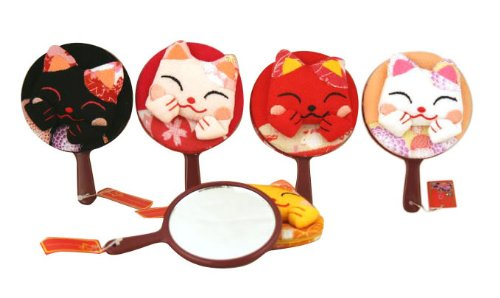 Assortment Of 6 Lucky Cats Maneki Neko Mirrors